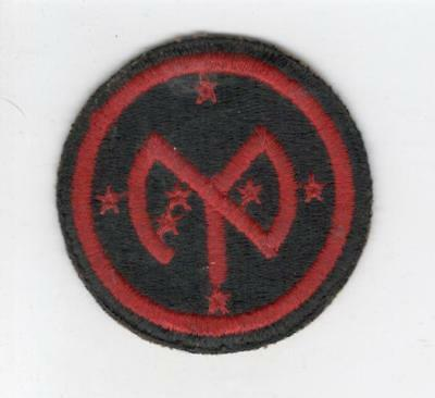 WW 2 US Army 27th Infantry Division Greenback Patch Inv# C668