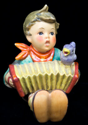 "Goebel Hummel ""Let's Sing"" Boy with Accordion TMK5 Figurine Germany"