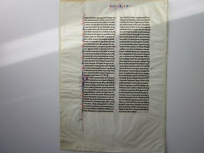 Large Middle Ages Vellum Bible Leaf, Paris 1250