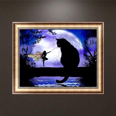 Cat DIY 5D Diamond Embroidery Craft Painting Cross Stitch Tool Office Home Decor