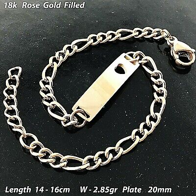 Necklace Chain Real 18k Yellow G/F Gold Solid Ladies Belcher Link Design