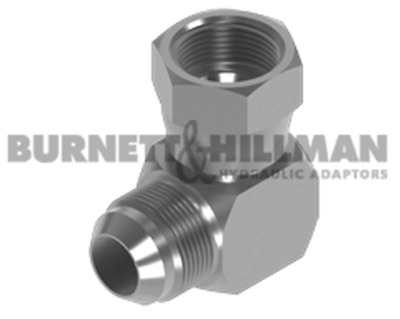 Burnett & Hillman JIC male x JIC Swivel Female 90° Compact Elbow Adaptor