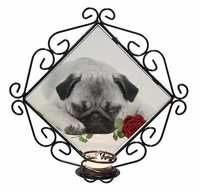 Fawn Pug with Rose /'Love You Mum/' Bookmark Book Mark Christmas St AD-P92RlymBM