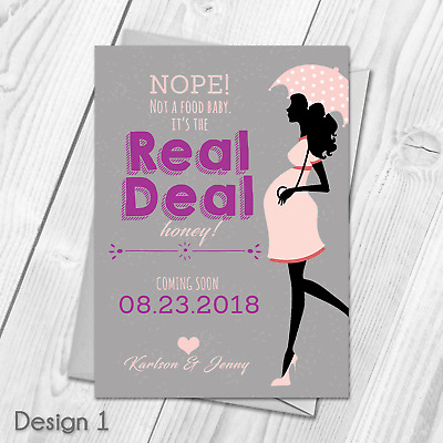 Personalised Pregnancy Announcement Cards | New Baby Pregnant Announcment Cards
