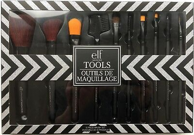 ELF - Eyes Lips Face - TOOLS - Outils de Maquillage - 10 piece brush set - NEUF