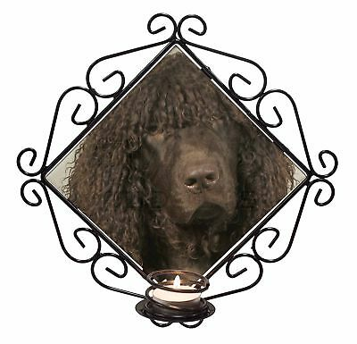 Irish Water Spaniel 'Love You Dad' Wrought Iron T-light Candle Holder , DAD-59CH