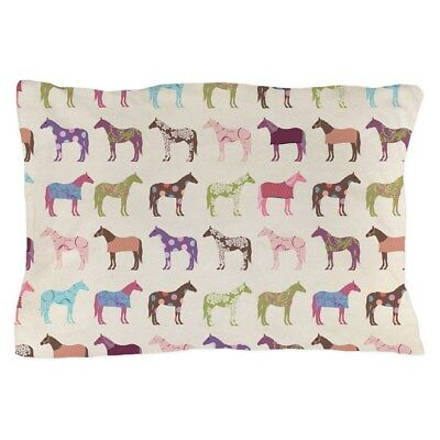 CafePress Picolorful Horse Pattern Pillow Case 975682970