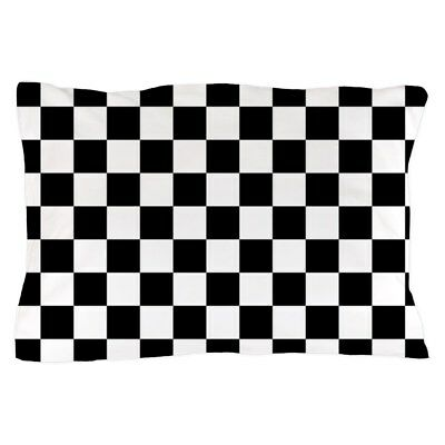 CafePress - BLACK AND WHITE Checkered Pattern - Pillow Case