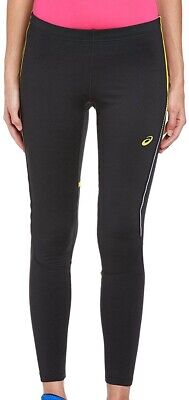 Asics Long Winter Womens Running Tights Black Exercise Sports Training