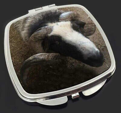 New Goat Face Make-Up Compact Mirror Stocking Filler Gift, GOAT-3CM