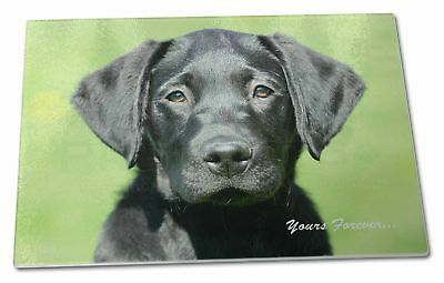 Advanta Group Yellow Labrador Dog Yours Forever X Large Glass Cutting Chopping Board