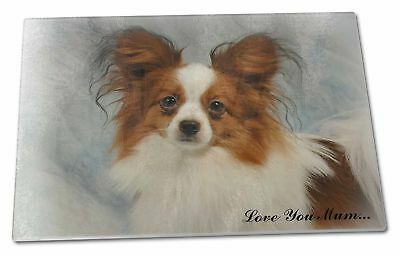 Papillon Dog 'Love You Mum' Extra Large Toughened Glass Cutting, , AD-PA1lymGCBL
