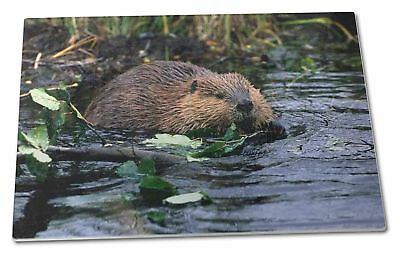 River Beaver Extra Large Toughened Glass Cutting, Chopping Board, ABV-1GCBL