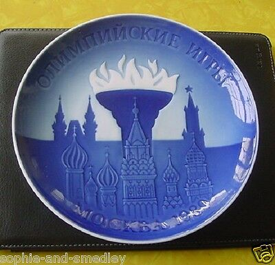 1980 Bing & Grondahl Plate - Moscow Olympic Games - Olympic Flame