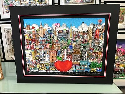 """Charles Fazzino """"A Winter Visit In The Big Apple """" 3-D Artwork  Signed & Number"""
