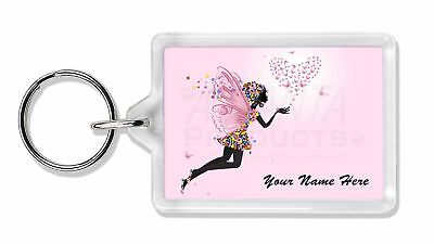 Fairy Hearts Personalised Photo Slate Christmas Gift Ornament FAIRY-3SL