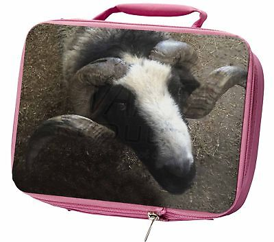 New Goat Face Insulated Pink School Lunch Box Bag, GOAT-3LBP