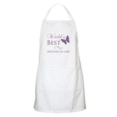 CafePress - World's Best Mother-In-Law Apron - Full Length Cooking Apron