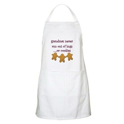 CafePress - Grandmas Never Run Out Of Hugs BBQ Apron - Full Length Cooking Apron