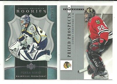 2005/6 Artifacts Pekka Rinne Rookie Rc 524/750