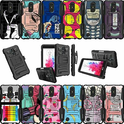 For LG Tribute Dynasty | Rebel 3 | Aristo 2 | LG K8 X210 Dual Layer Case-Vintage