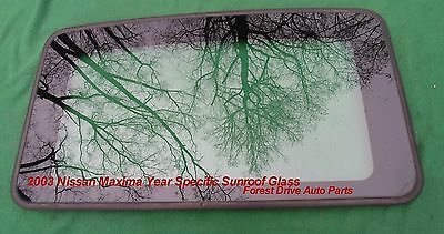 2003 Nissan Maxima Year Specific Oem Factory Sunroof Glass Free Shipping