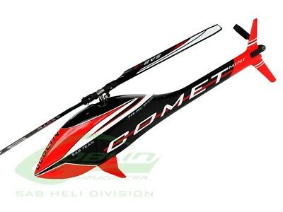 GOBLIN SG284 Mini Comet Black / Red Helicopter w/ Competition Motor, SAB ESC 60A