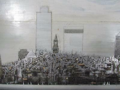 *STUNNING* CITY of BOSTON,MA SKYLINE PAINTING by DONALD STOLTENBERG
