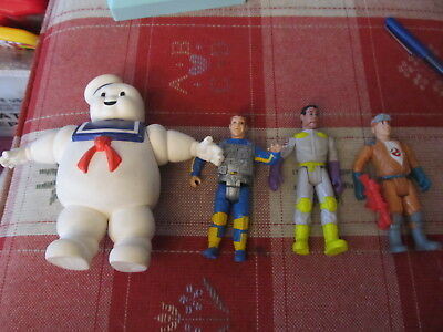 Vintage Kenner Ghostbusters lot of 3 figures & Stay Puft Marshmellow Man