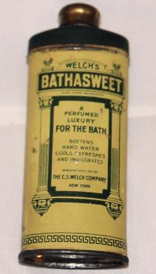 Vintage Antique Advertising Tin Bathasweet Talc Tin Used as Water Softener OLD