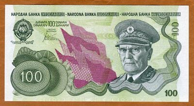 Yugoslavia, 100 Dinara, ND (1990), P-101A, UNC > Not Issued, Low S/N