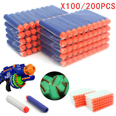 200Pcs Kids Toys Soft Nerf Gun Darts Bullet Refill Blaster N-Strike Elite Series