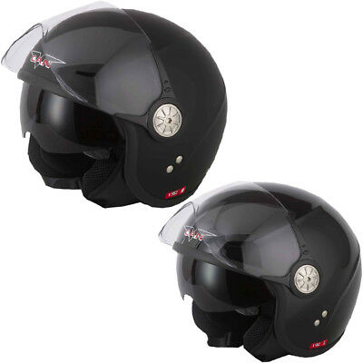 V Can V582 Casque Moto Casque Jet Bol Scooter Crash Ece2205 Double