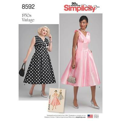 SIMPLICITY SEWING PATTERN MISSES / WOMENS 1950s VINTAGE DRESS 10-18 ...