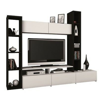Sawyer Living Room Furniture Set In White And Ebony