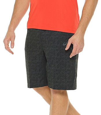 Asics Graphic 11 Inch Woven Mens Running Shorts - Black