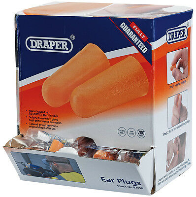 Genuine DRAPER Countertop Dispenser of 200 Pairs of Ear Plugs 82450