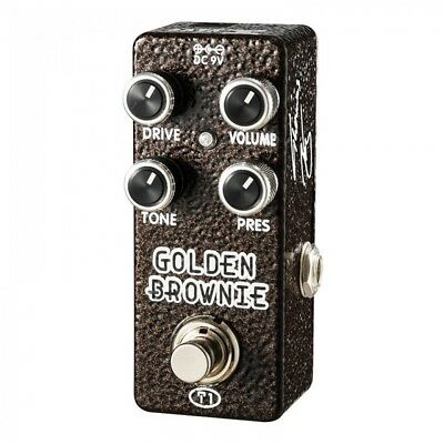 Xvive Xt1 Golden Brownie Distortion Micro-Pedal By Thomas Blug - Brand New!