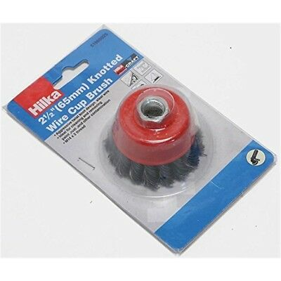 Hilka Tools 51960025 M14 Knotted Cup Brush, Red, 2 1/2-inch - Brush Wire Angle