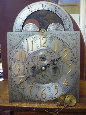Antique Herschede 5 Chime Tube Moonphase Longcase Movement