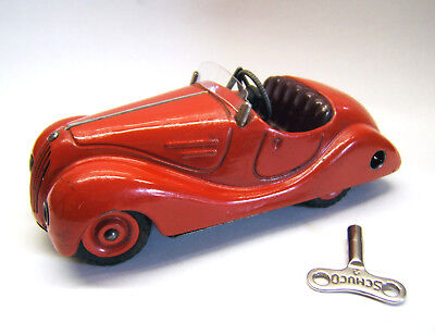 Tintoy, Blechspielzeug, Schuco Akustico 2002, rot, D.R.P. Germany, Fahrt Hupe ok