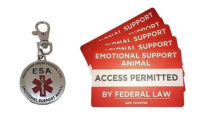 NEW ESA EMOTIONAL SUPPORT DOG TAG and ID CARD BUNDLE PTSD Support