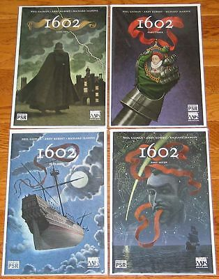 1602 1 2 3 4 5 6 7 8 SET MARVEL COMICS NEIL GAIMAN ANDY KUBERT #1-8 complete run
