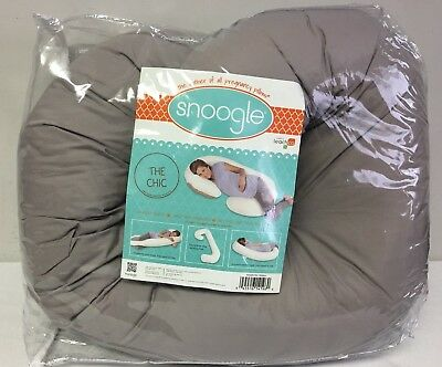 Leachco Snoogle Chic Total Body Pillow Shadow Grey