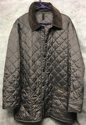 Barbour Liddesdale Men's Quilted Jacket Coat Overcoat Size Medium