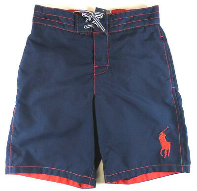 POLO RALPH LAUREN Boys Sz 2 2T Swim Trunk Kids Swim Suit NEW
