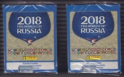 2018 Panini FIFA World Cup Russia stickers 50 pack box  2 box lot - 500 stickers