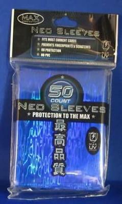 Max Protection Card Protection Neo Sleeves - Wave Blue (50) MINT