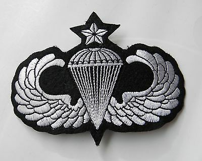 Us Army Airborne Senior Paratrooper Para Embroidered Jacket Patch 4.1 Inches