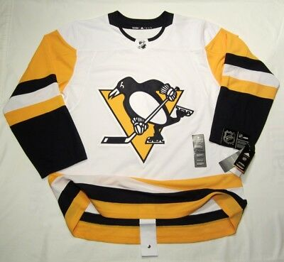 PITTSBURGH PENGUINS sz 56 XXL ADIDAS NHL HOCKEY JERSEY Climalite Authentic  White 27fc7cd72